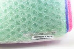 Stötsäker materiell bubbla för Polyethelene skumluft royaltyfria foton