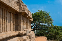Stötta tempelet på Mamallapuram, Indien Arkivbild