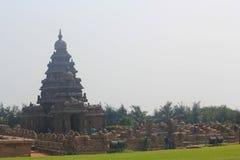 Stötta templet i Mahabalipuram, Tamilnadu, Indien Arkivfoton