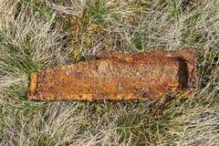 Stück Bombe vom zweiten Weltkrieg Stockbilder