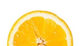 Stück der Orange geschnitten zur Hälfte lizenzfreie stockfotos