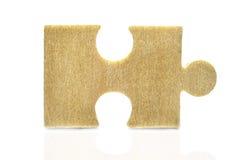 Stück des alten hölzernen Puzzlespiels Lizenzfreie Stockfotografie
