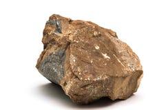 Stück des Felsens lokalisiert stockfotografie
