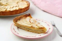 Stück des frischen selbst gemachten Apfelkuchens Lizenzfreies Stockfoto