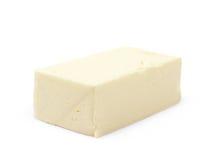 Stück des Kochens von Butter lokalisiert Stockfotografie
