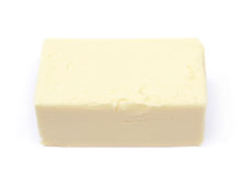 Stück des Kochens von Butter lokalisiert Stockfoto