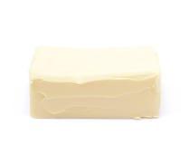 Stück des Kochens von Butter lokalisiert Lizenzfreie Stockfotografie