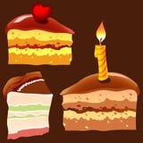 Stück des Kuchens Stockbild