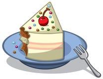 Stück des Kuchens Lizenzfreie Abbildung