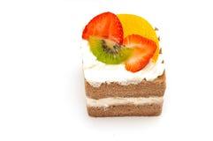 Stück des Kuchens getrennt lizenzfreies stockfoto