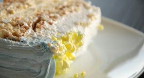 Stück des Kuchens, Makro lizenzfreies stockbild