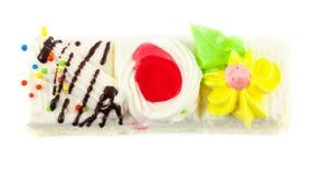 Stück des Minikuchens Lizenzfreies Stockfoto