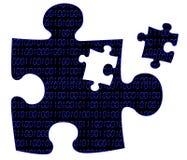 Stück des Puzzlespiels Lizenzfreie Stockfotos