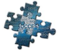 Stück des Puzzlespiels des Erfolgs Lizenzfreies Stockbild