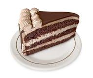 Stück des Schokoladenkuchens Stockbild