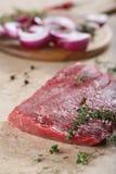 Stück frisches Rindfleisch Stockbilder