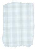 Stück heftiges quadriertes Papier auf Weiß stockfotos