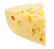 Stück Käse getrennt Lizenzfreie Stockfotos