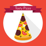 Stück Pizza stock abbildung