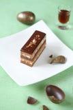 Stück Schokolade Ester Cake stockfotografie