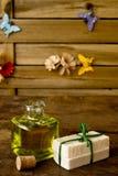 Stück Seifen Olivenöl handgemacht Lizenzfreies Stockfoto