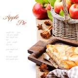 Stück selbst gemachter Apfelkuchen Lizenzfreie Stockfotos