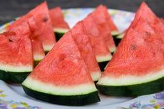 Stück watertmelon Lizenzfreies Stockbild