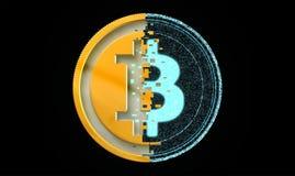 Stückchen-Münzen-Metall und Digital-Konzept Lizenzfreie Stockfotografie