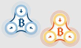 Stückchenmünzensymbol Lizenzfreies Stockbild