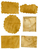 Stücke altes Papier Lizenzfreie Stockfotos