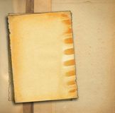Stücke altes Papier stockfotografie