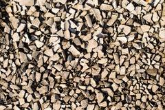 Stücke Beton- und Ziegelsteinschuttrückstand auf Baustelle Lizenzfreie Stockbilder