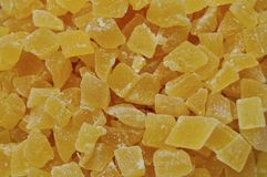 Stücke der getrockneten Ananas Stockfotografie