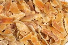 Stücke der getrockneten Mangofrucht Stockfoto