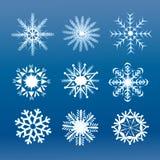Stücke der Schneeflocke lizenzfreie abbildung