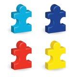 Stücke des Puzzlespiel-3D Stockbild