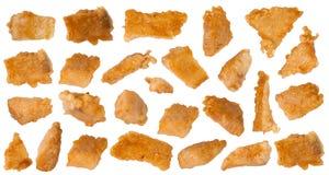 Stücke Fische im Teig Stockbild