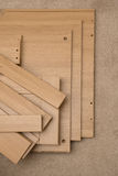 Stücke Flachgehäuse-Möbel Stockfoto