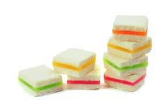 Stücke köstliche Fruchtpasten Stockbilder