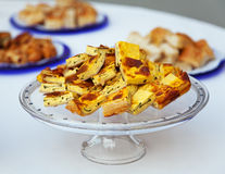 Stücke Omelette. Lizenzfreie Stockfotografie