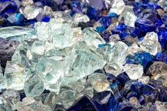 Stücke rohes Glas Lizenzfreie Stockfotos