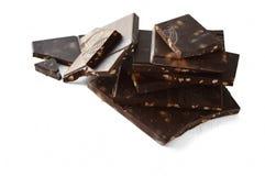Stücke Schokolade stockfoto
