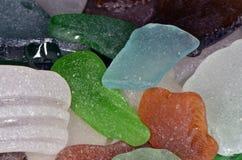 Stücke Seeglas lizenzfreies stockfoto