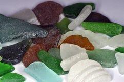 Stücke Seeglas stockfotografie