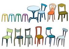 Stühle Vektor Abbildung