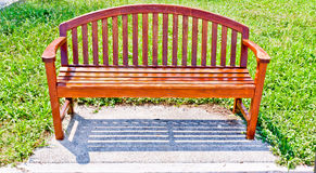 Stühle bildeten ââof Holz Stockfotografie