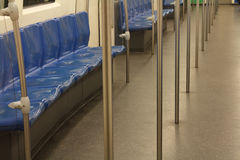 Stühle in der Metro Stockbilder