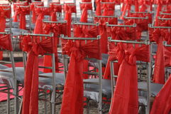 Stühle für eine Partei Stockfotos