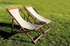 Stühle für entspannen sich Lizenzfreies Stockfoto