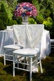 Stühle für Hochzeit Lizenzfreies Stockbild